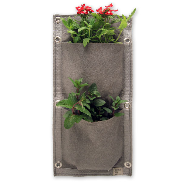 vertical garden, 2 pocket panel, 2 pockets, vertical vegetables, garden, grow, home grown, grow your own
