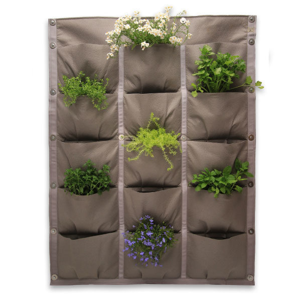 vertical garden, 15 pocket panel, 15 pockets, vertical vegetables, garden, grow, home grown, grow your own