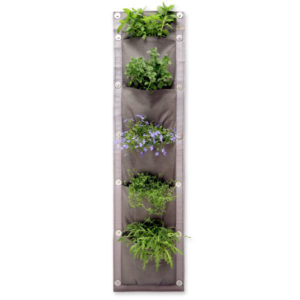 vertical garden, 5 pocket panel, 5 pockets, vertical vegetables, garden, grow, home grown, grow your own